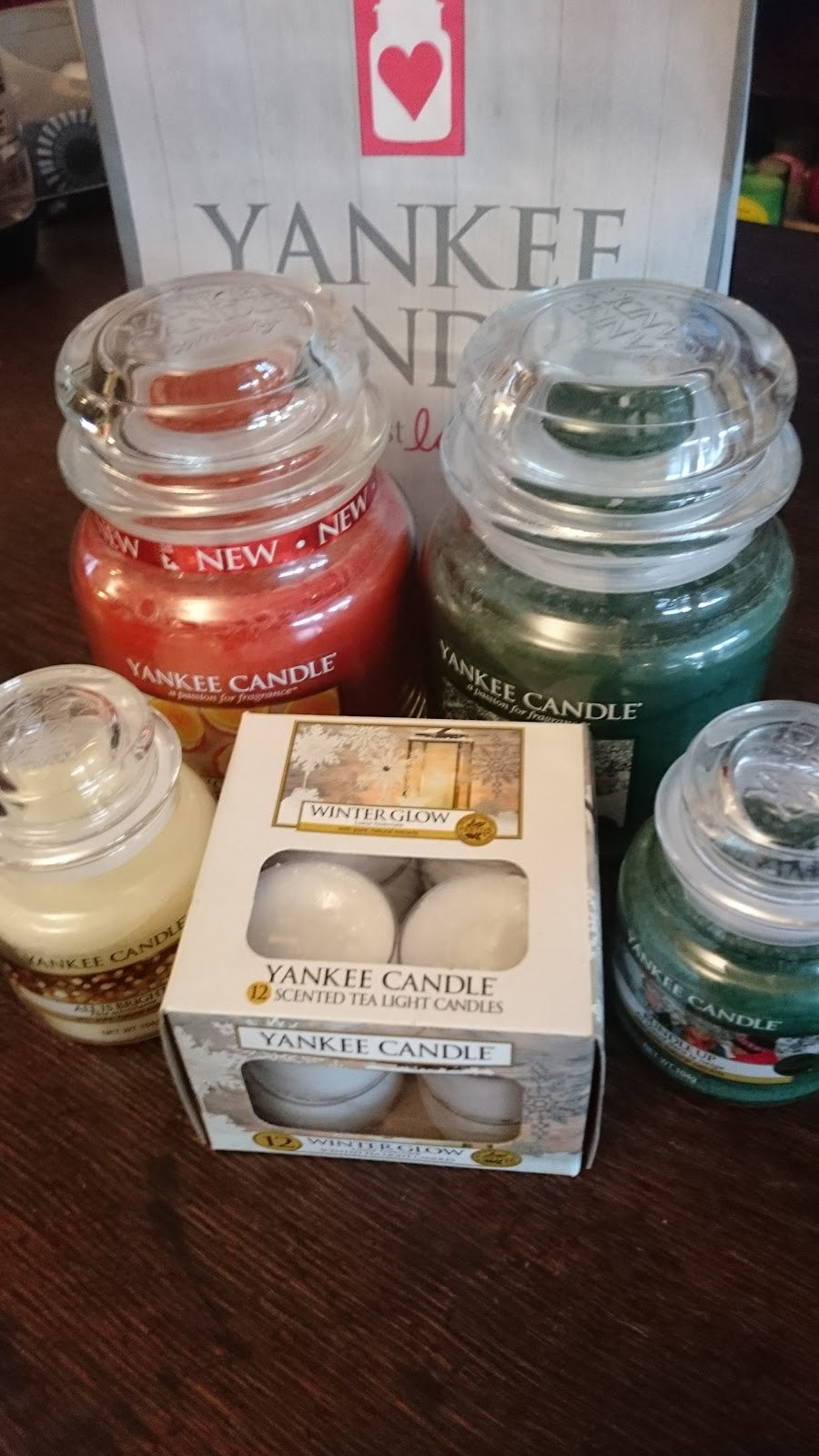 Selection of jar and tealight candles