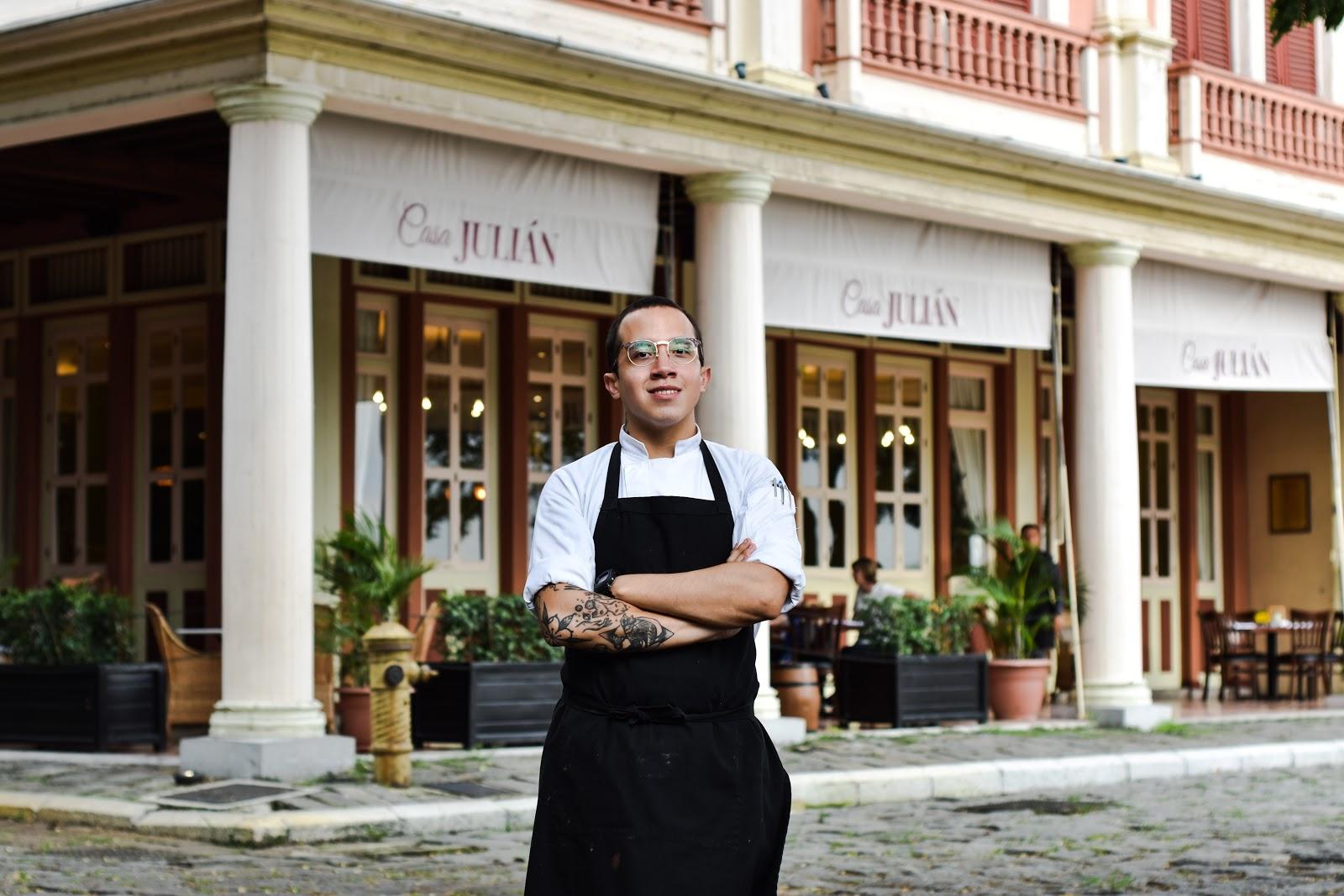 Casa Julian gourmet restaurant's chef Javier