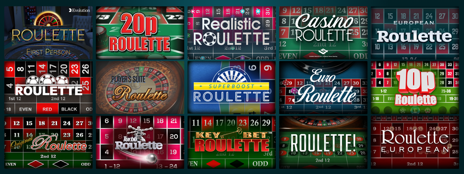 You can play lots of great roulette games at Grosvenor Casinos