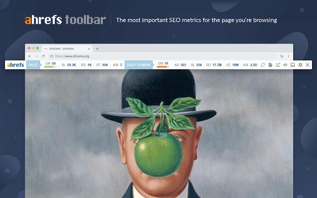 Ahrefs toolbar