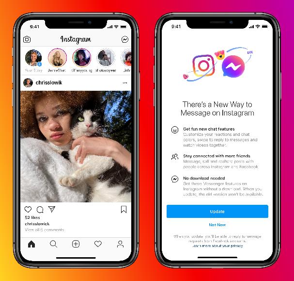 Facebook Resmi Integrasikan Fitur Chat Messenger Dengan DM Instagram - 2021