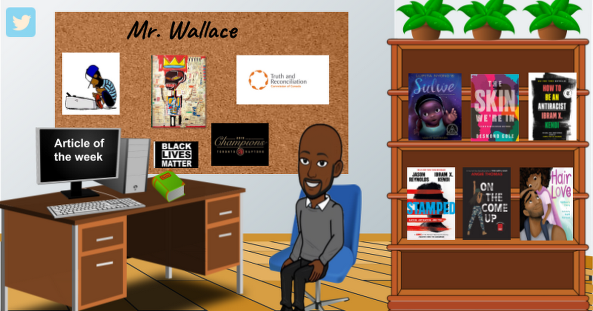 Cartoon depiction of Mr.Wallace's office