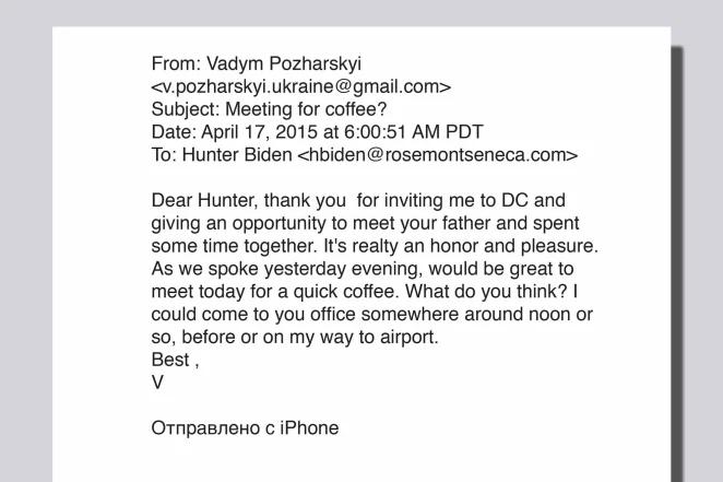 Correos electrónicos secretos revelan cómo Hunter Biden presentó al empresario ucraniano a su padre Joe Biden 1