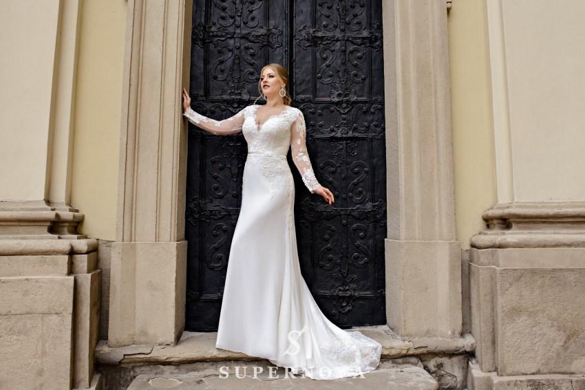 Свадебное платье годе размера плюс сайз