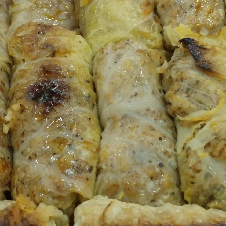 Cabbage Rolls stuffed with Rice, onion, mild spices  (Vegan, GF)