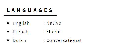 Languages in CV