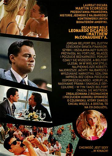 Tył ulotki filmu 'Wilk Z Wall Street'