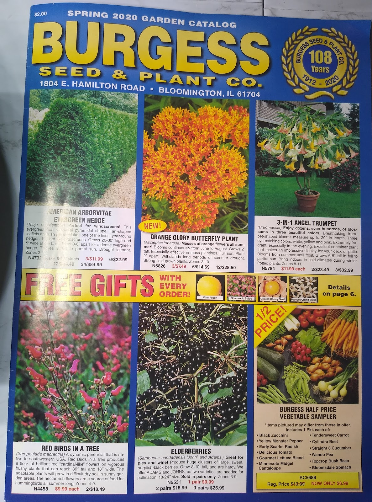 Burgess Seed & Plant Co. catalog picture