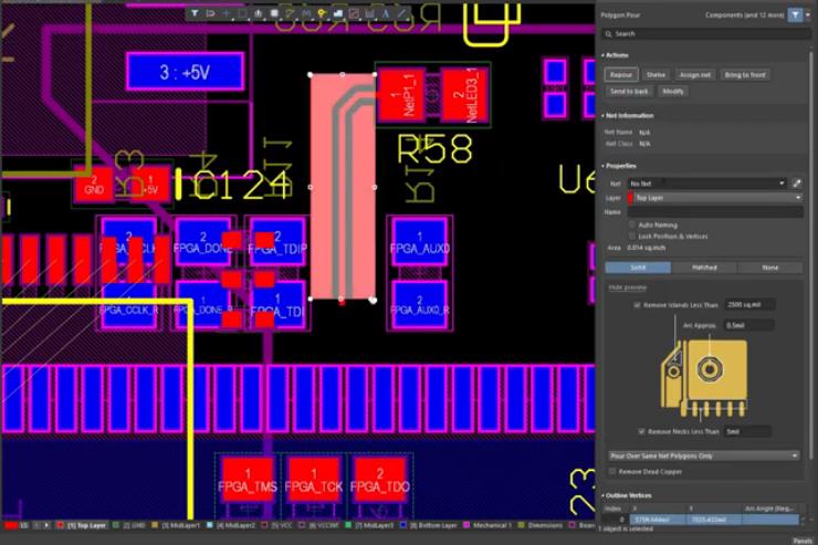 Small circuit board design and layout in Altium Designer