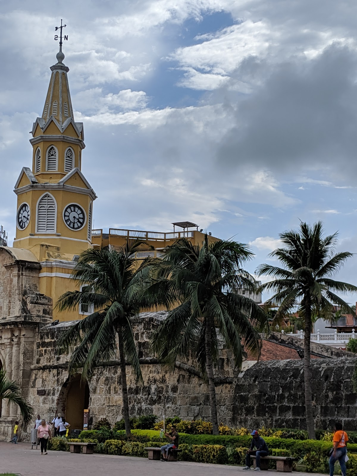 The clocktower in Cartagena, Colombia.