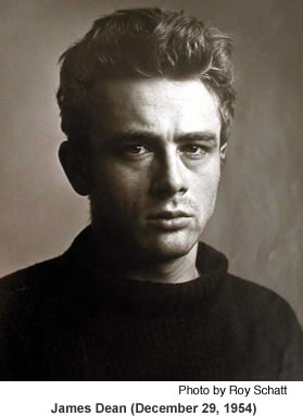 James Dean portrait.