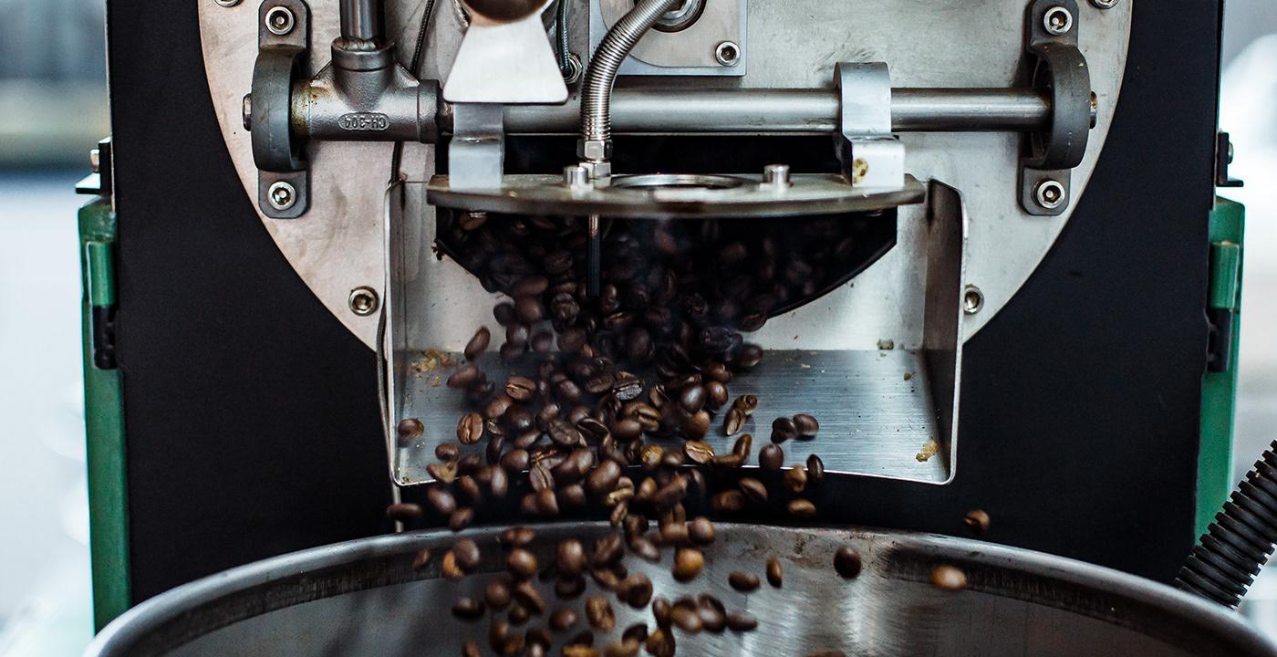 Industrial coffee roaster.