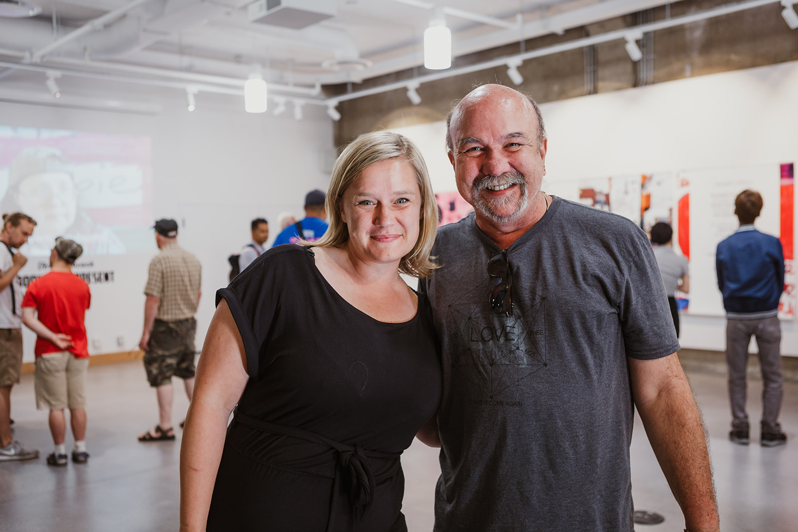 PLAN's Rebecca Pauls poses for a picture with consultant and researcher Aaron Johannes on July 22, 2019.  Photo: This Is It Studios.