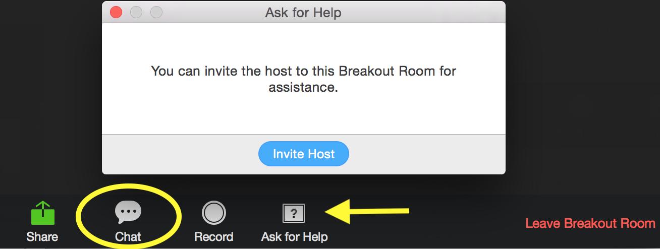 Ask for Help screenshot