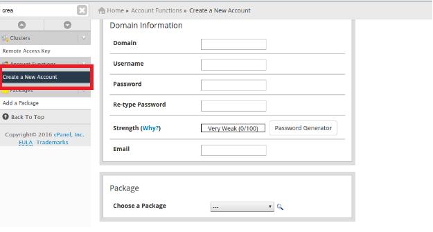 pembuatan account hosting