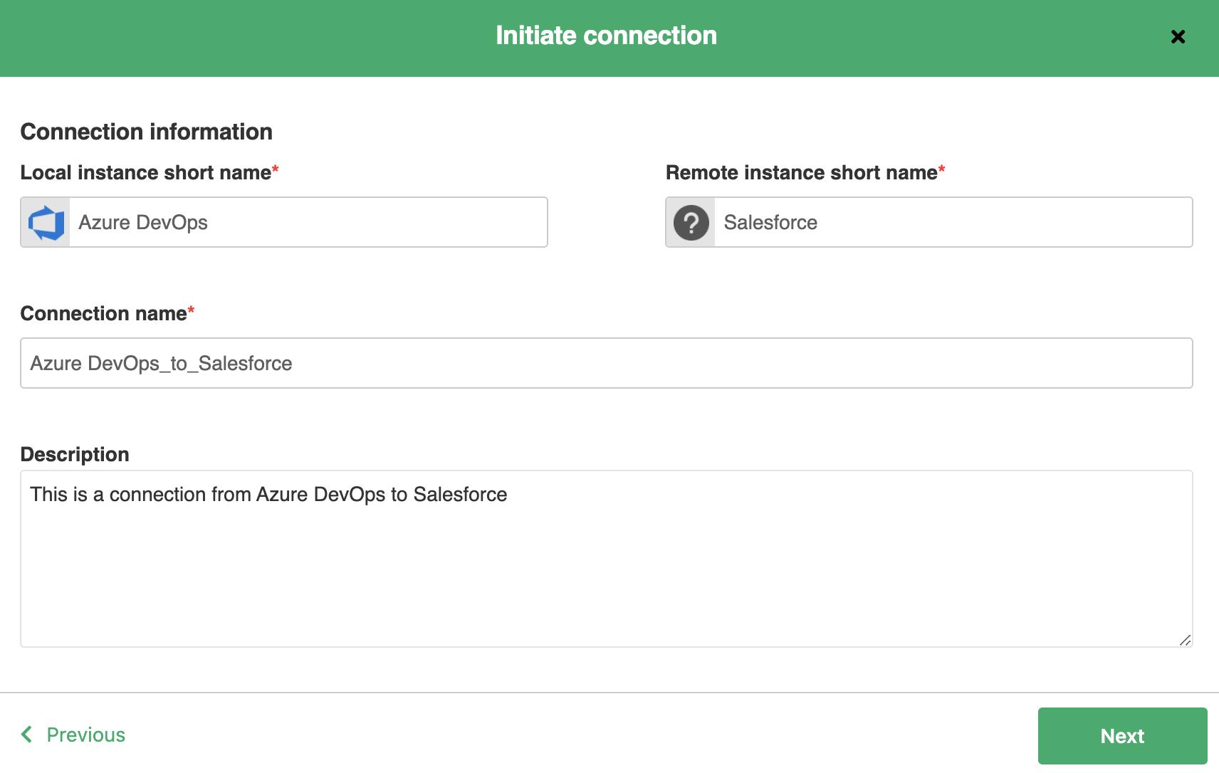 establish Azure DevOps Salesforce integration