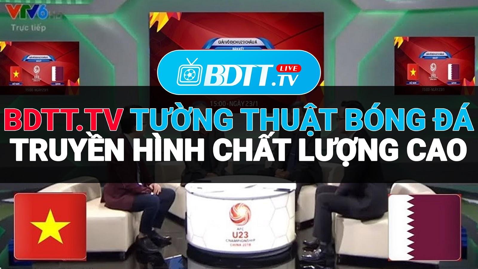 BDTT.tv - Xem trực tiếp bóng đá miễn phí truyền hình chất lượng cao, là kênh giúp bạn có thể xem trực tiếp bóng đá chất lượng cao, mượt mà, không lo quảng cáo. Hỗ trợ cung cấp nguồn link ổn định, tốc độ cao, đầy đủ và chi tiết nhất