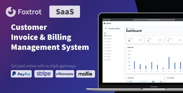 Foxtrot SaaS - Customer, Invoice and Expense Management System - CodeCanyon Item for Sale