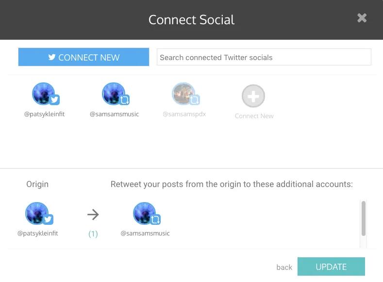 click on update - auto retweet tools - TweetJumbo.com- twitter automation bot tool