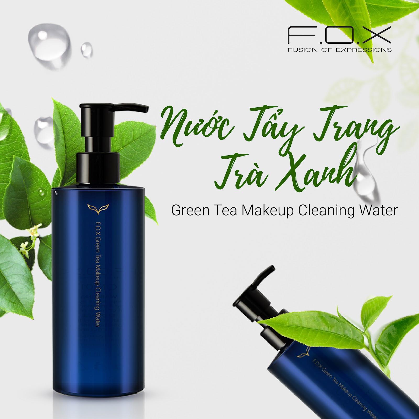 Nước tẩy trang trà xanh F.O.X Green Tea Makeup Clear Water