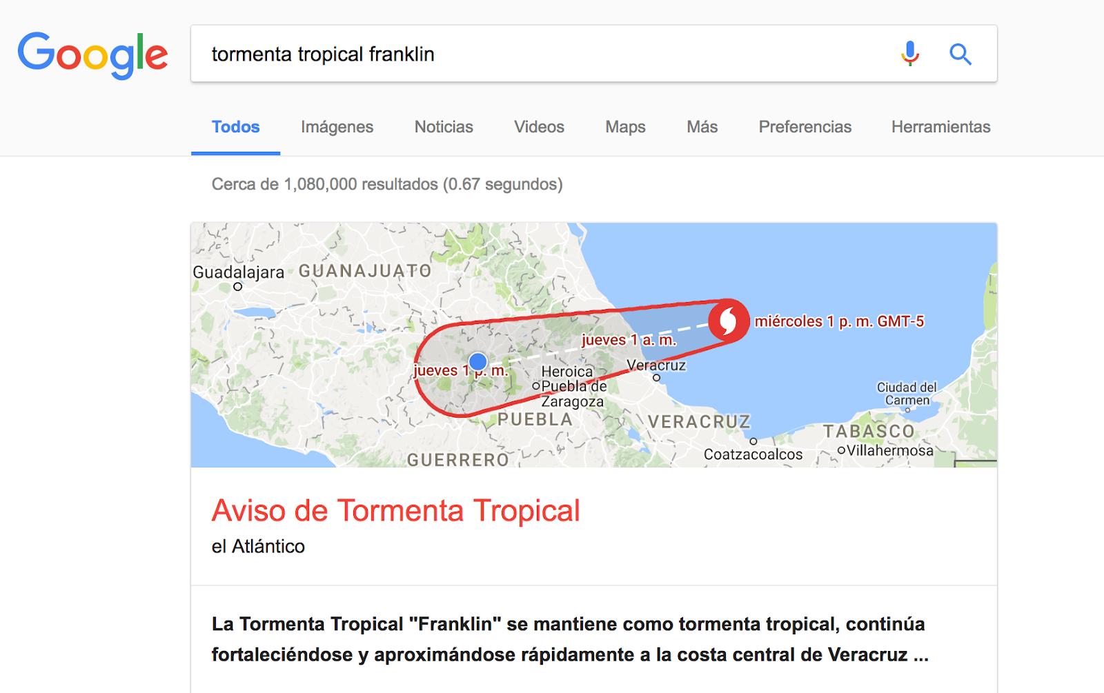 Activa Google alertas públicas y mapa de crisis por Franklin