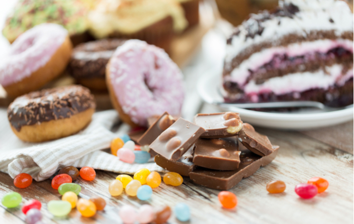 sugary foods like candy that cause cavities