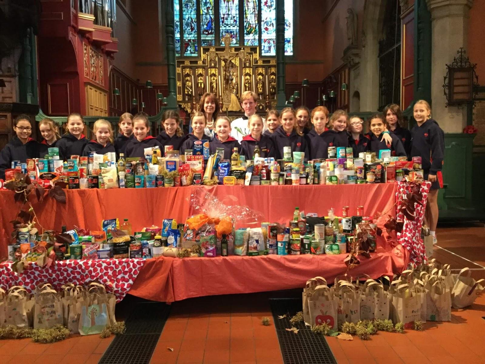 harvest festival in uk, celebrations at church