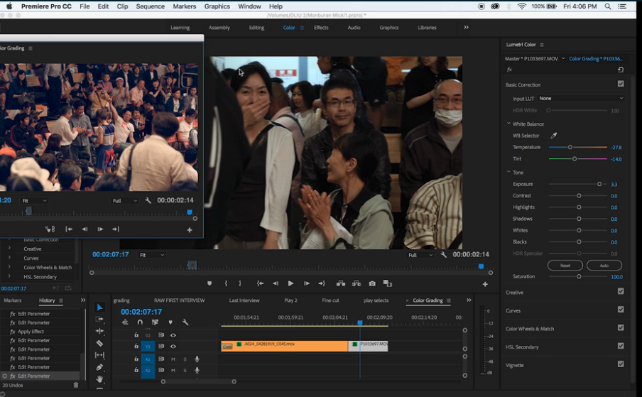 editing on premiere pro