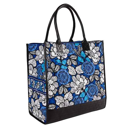 Boxy Tote in Blue Bayou with Black Trim