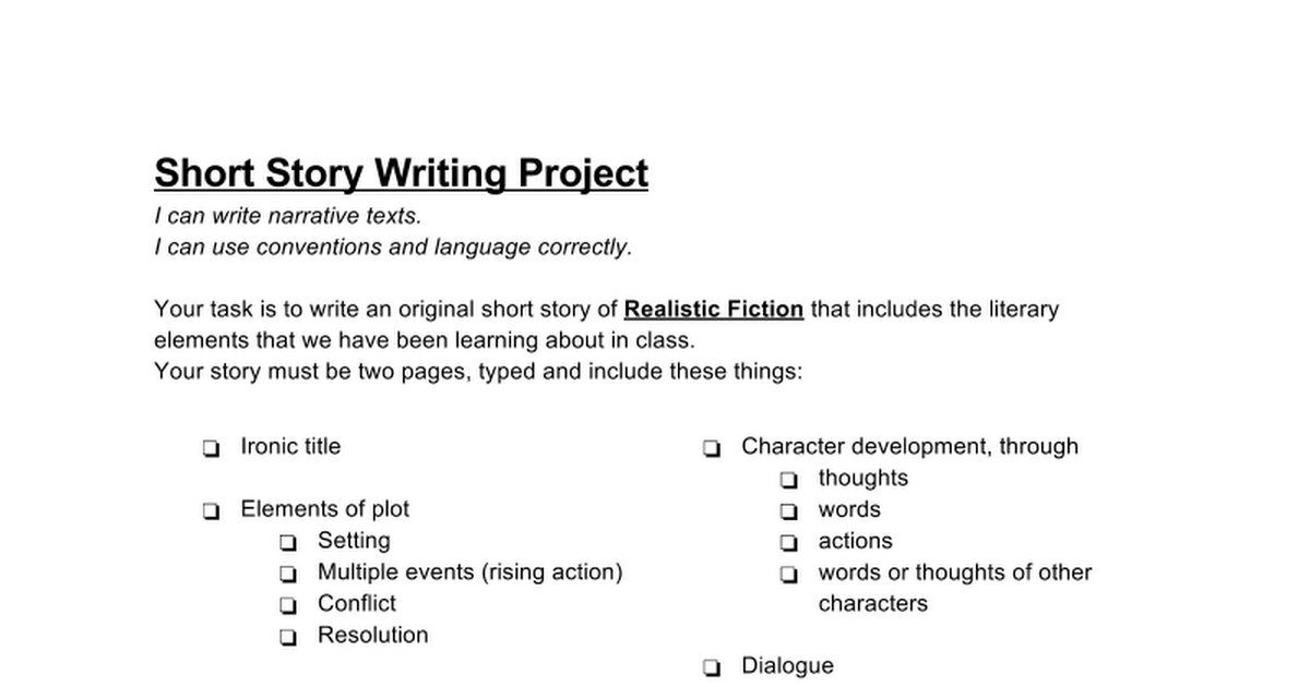 short story writing This section provides the schedule of lecture topics for the course and features lecture notes for the majority of class sessions.