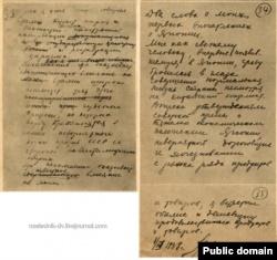Страницы дневника Люшкова