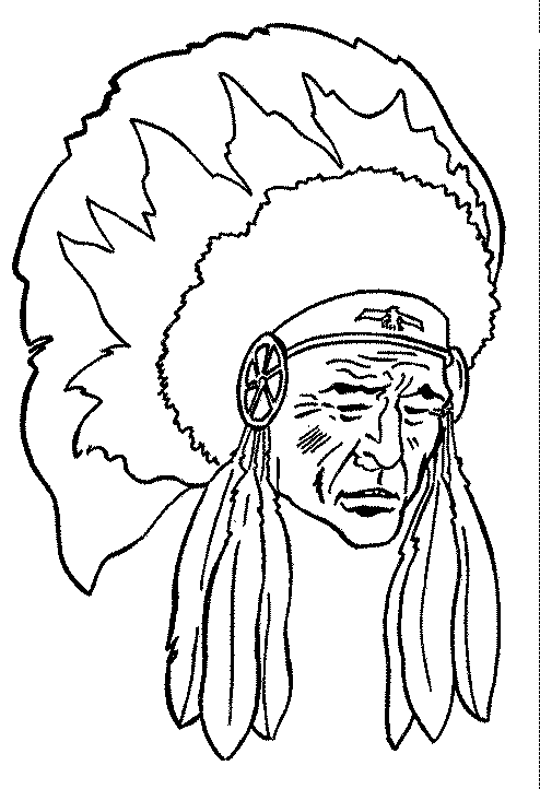 coloring pages indian chief - photo#17