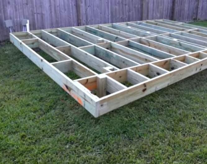 install decking on soil