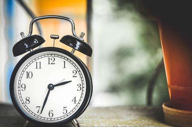 Watching the clock hurts sleep, too.