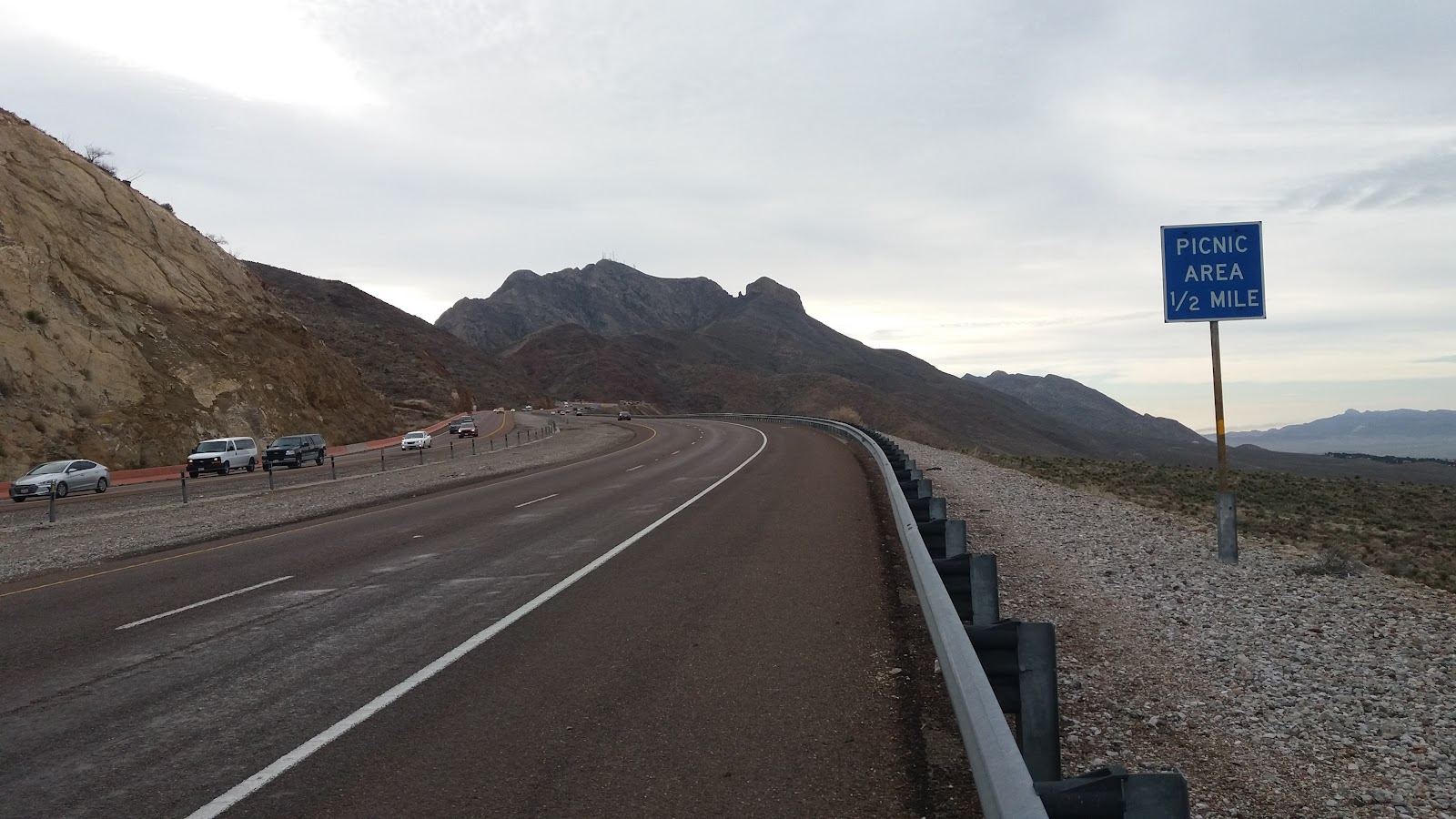 Bicycle ride Smugglers Pass West - Transmountain Drive - rumble strips, roadway, shoulder