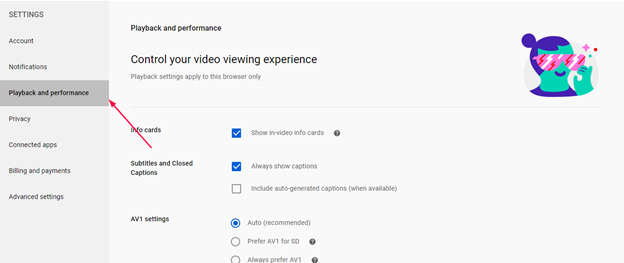 Turn on subtitles on all YouTube videos - Step 2