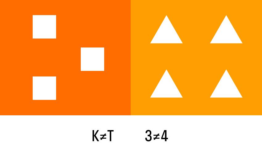 картинка с неравным изображением геометрических фигур