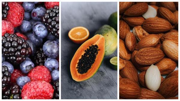 Fotos de frutas com textura