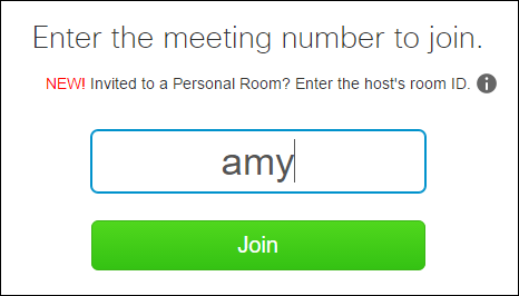 Webex Personal Meeting Room Url