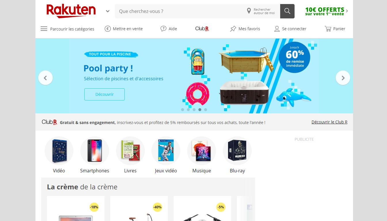 Homepage Marketplace Rakuten