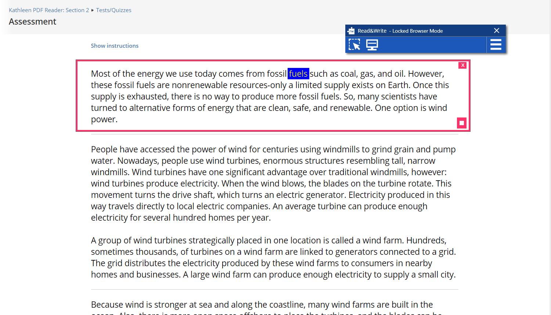 Using Screenshot Reader in Respondus LockDown Browser