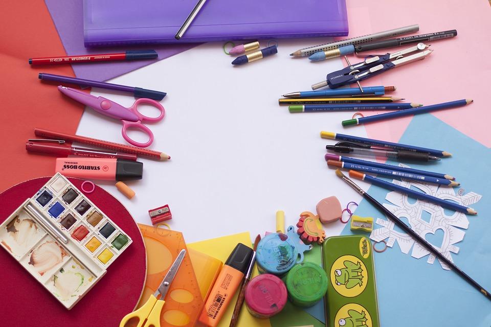 Painting, School, Colour, Watercolor, School Supplies