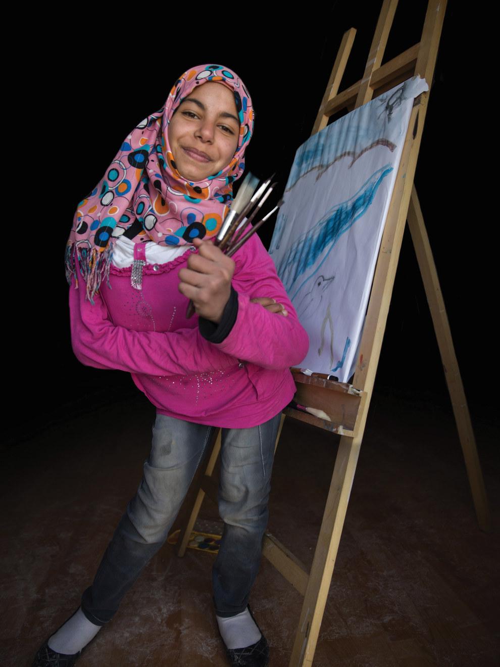 Merwa, 13, future painter