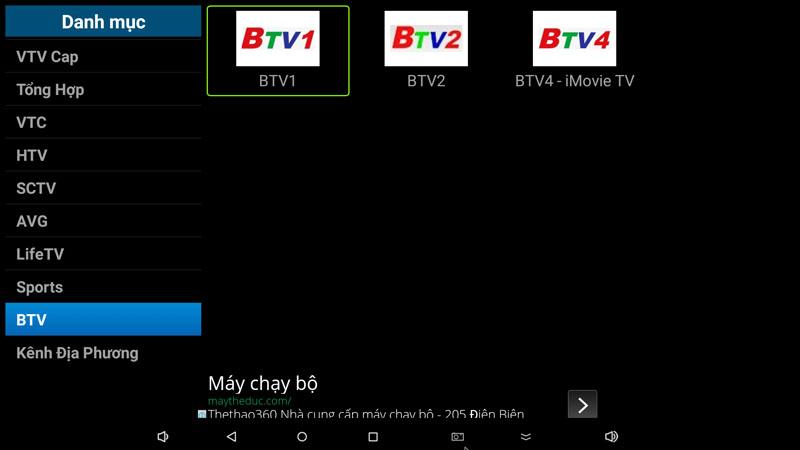 flytv ung dung xem truyen hinh tivi online mien phi cho android tv box flytvbox - nhom kenh btv