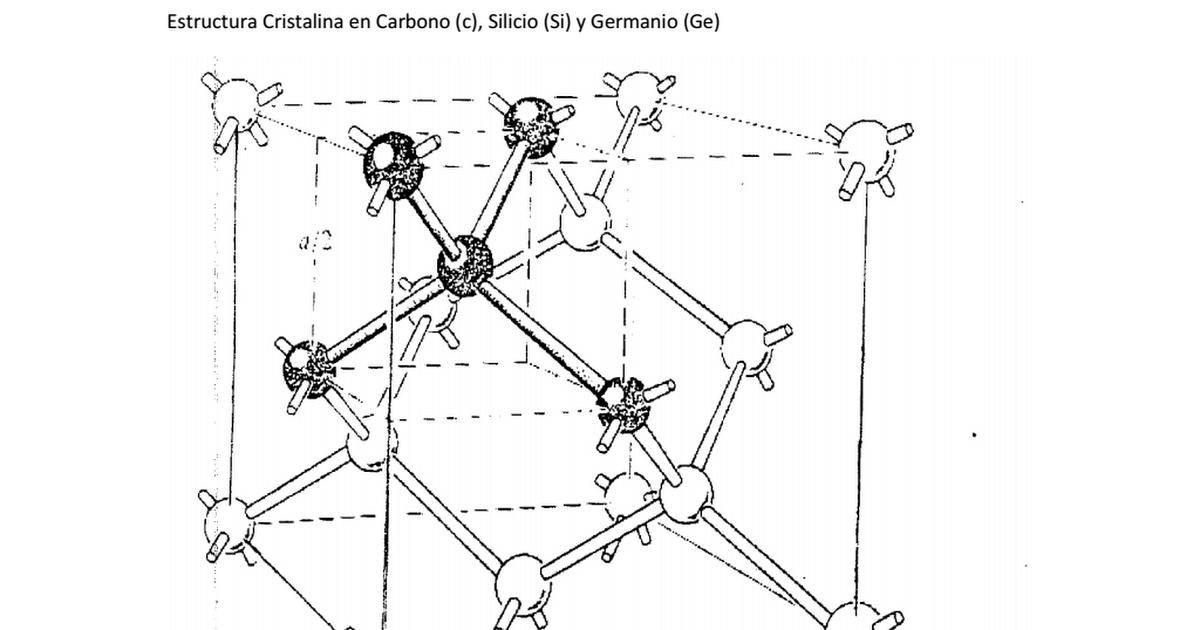 1 Estructura Cristalina En Carbono Silicio Germanio Pdf