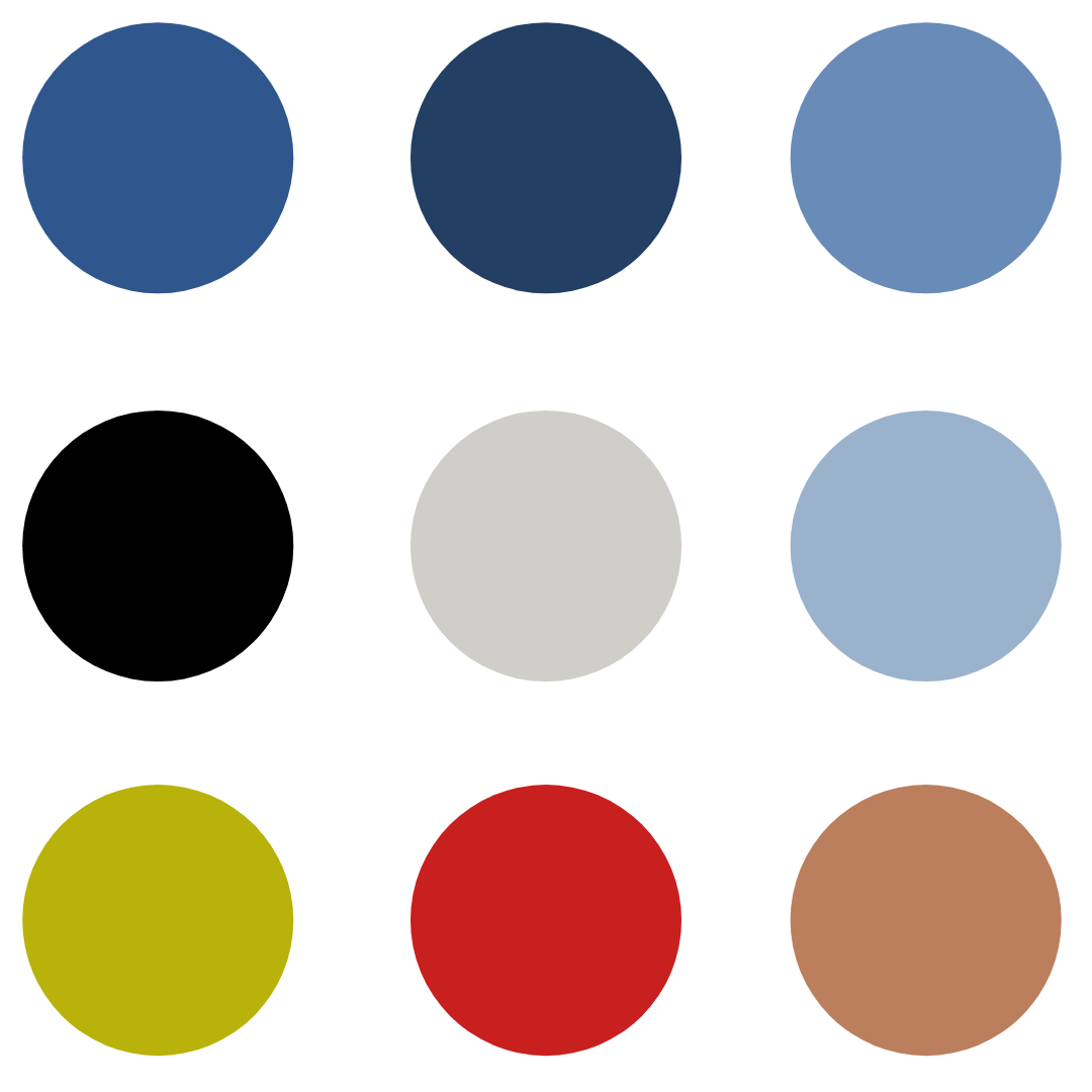 Examples of Complementary Color Samples provided by American Country Home Store