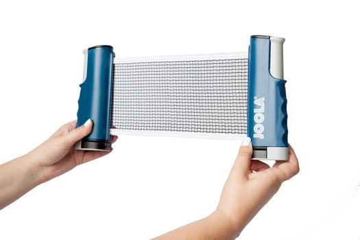 A portable net that allows you to play table tennis virtually anywhere