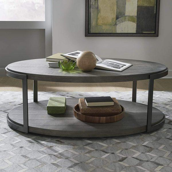 http://cdn.home-designing.com/wp-content/uploads/2021/04/rustic-oval-coffee-table-with-lower-shelf-distressed-dark-brown-wood-with-pewter-frame-industrial-furniture-for-living-room-600x600.jpg