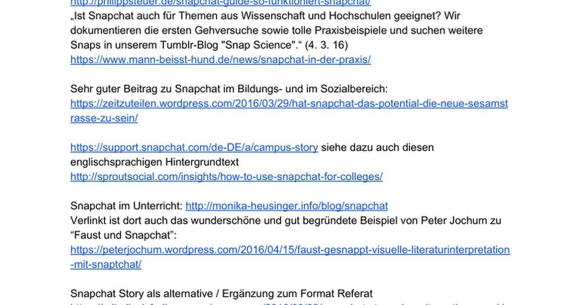 Snapchat in Bildung & Wissenschaft