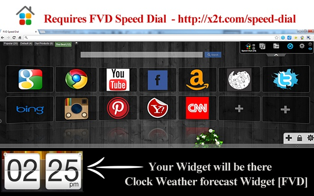 Clock and Weather forecast combo [FVD] chrome extension